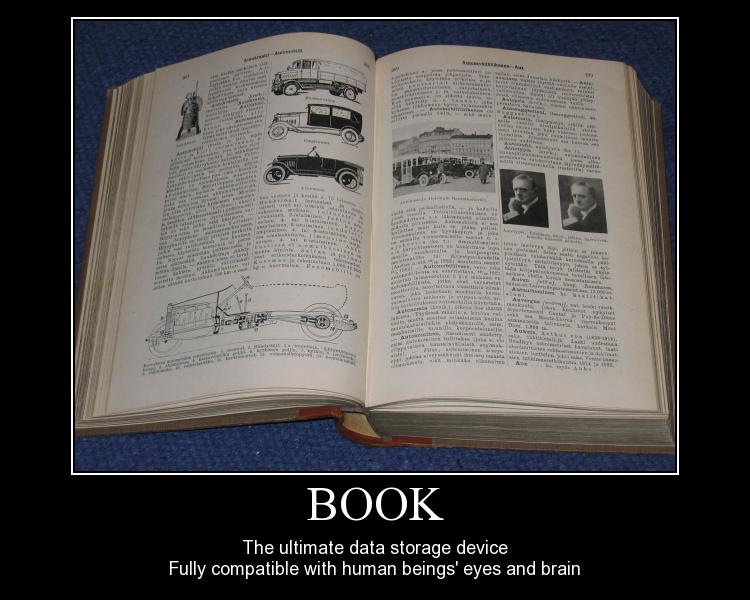 Book - The ultimate data storage device